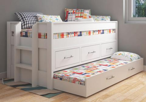 Captains Bed With Trundle Ana White, Full Size Bed With Trundle And Storage Drawers