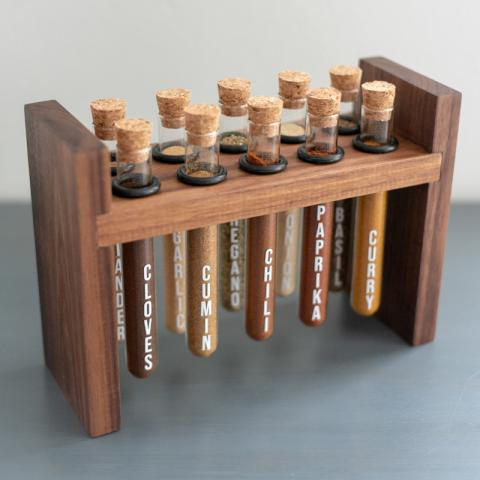 Test Tube Spice Rack