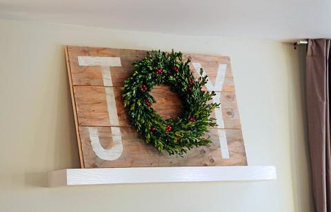 Joy Holiday Sign Christmas Wall Art Ana White