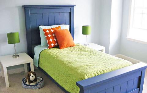 Farmhouse Bed Twin Size Ana White, Ana White Twin Storage Bed