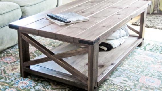 rustic x coffee table plans