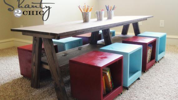 Sensational Kids Tables And Chairs Ana White Caraccident5 Cool Chair Designs And Ideas Caraccident5Info