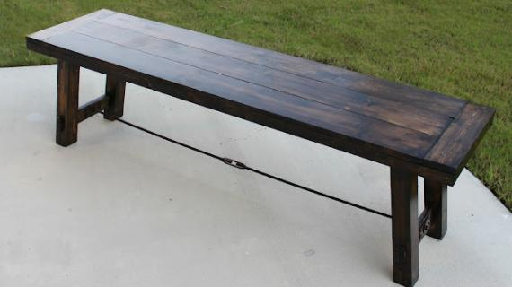 industrial farmhouse dining bench plans