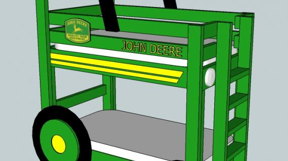 John Deere Tractor Toddler Bunk Beds