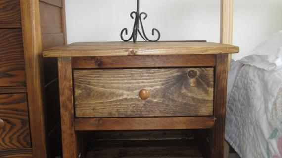 Reclaimed Wood Look Bedside Table | Ana White