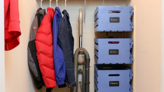 DIY Pallet Crate Storage for Closet