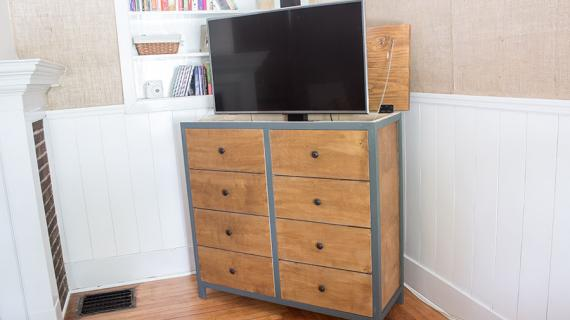 DIY TV Lift Cabinet