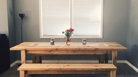 Astounding Beginner Farm Table Benches 2 Tools 20 In Lumber Ana Evergreenethics Interior Chair Design Evergreenethicsorg