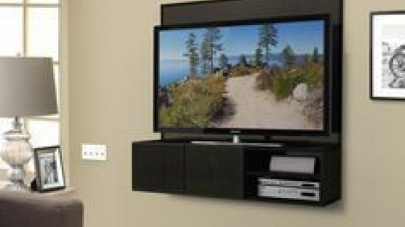 Wall Mounted Media Cabinet Featuring Build Something By Ana White Admin Built In Woodworking Plans
