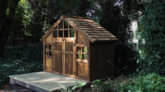beautiful cedar playhouse