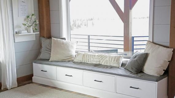 diy window seat with drawers