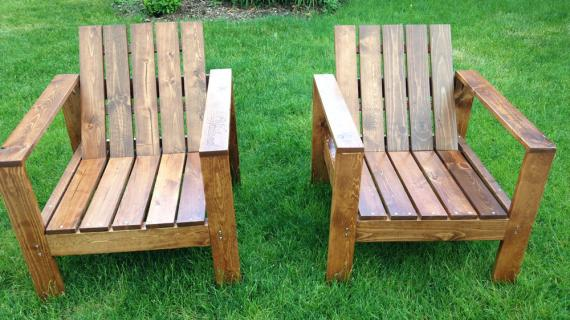 modern wood outdoor chair