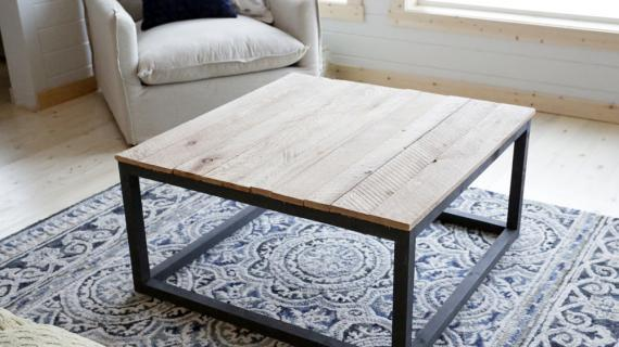 Bon Square Industrial Coffee Table