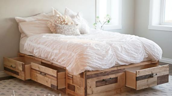 reclaimed wood storage bed plans