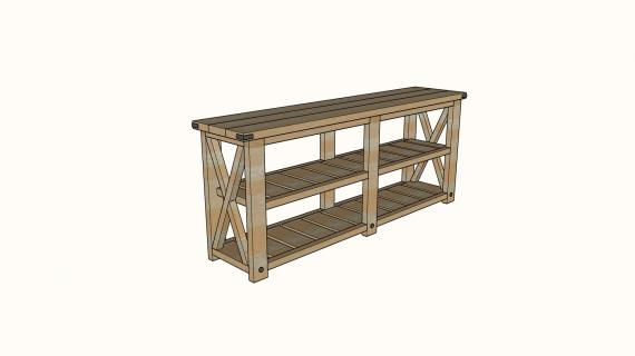 farmhouse console table plans