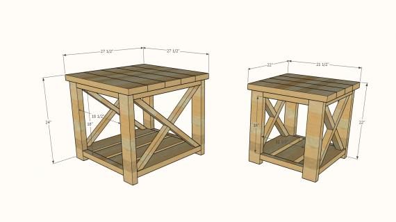 Farmhouse Side Table plans