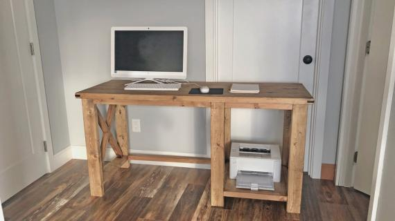 farmhouse desk plans