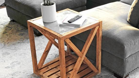 Beau Modern Rustic X End Table Inspired By Pottery Barn Grove Table