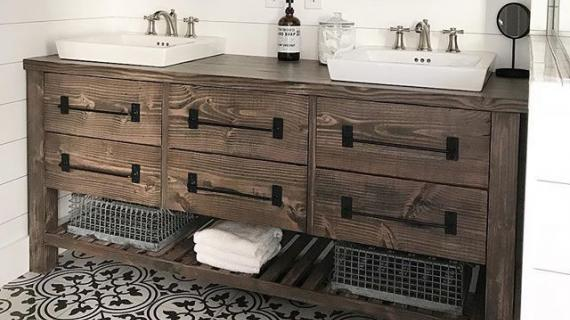 farmhouse bath vanity