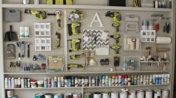 tool storage on wall