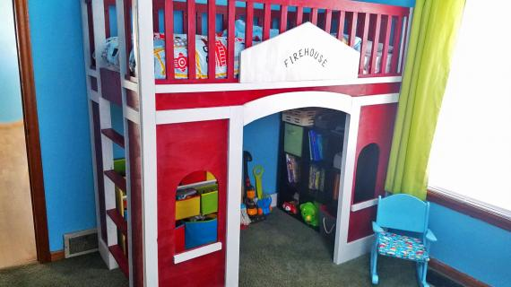 build your own firestation playhouse bed