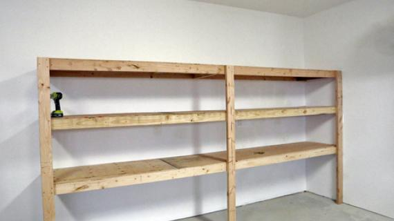 diy garage shelving