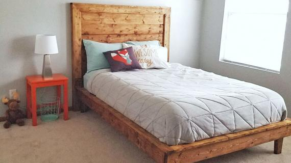 modern kids platform bed wood farmhouse style