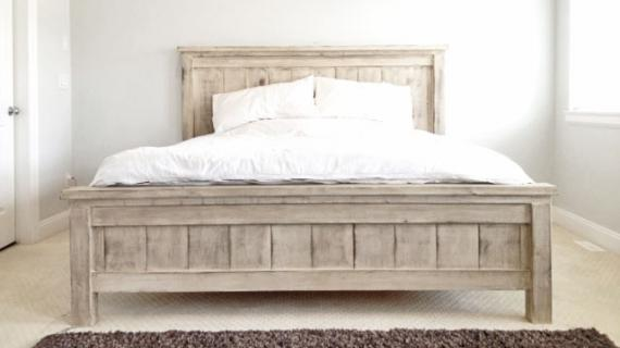 beautiful farmhouse bed in king size