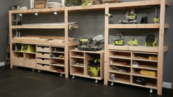 workbench with lots of storage
