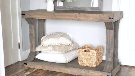 modern farmhouse console table