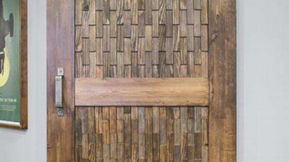 Wood Shim Barn Door
