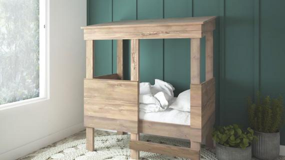 toddler treehouse playhouse bed plans