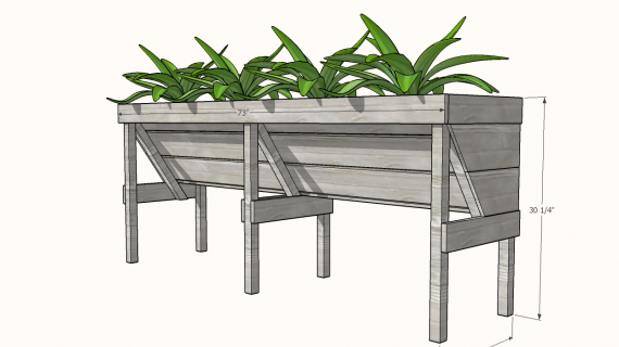 diagram showing vegtrug planters plan