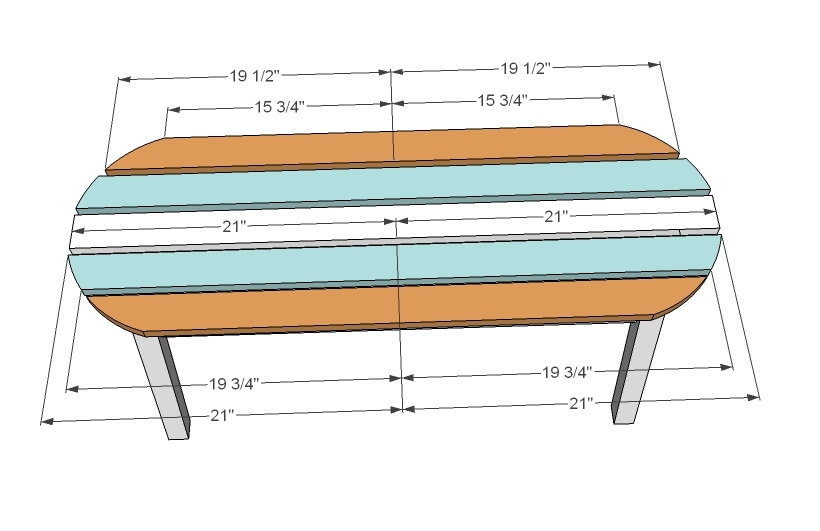 Ana White | Surf Board Coffee Table, Bench Or Childu0027s Table   DIY Projects