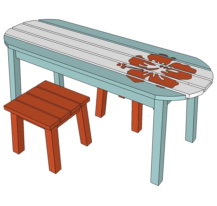 Ana White Surf Board Coffee Table Bench Or Childs