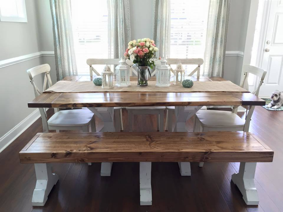Dark Wood Dining Table Farmhouse