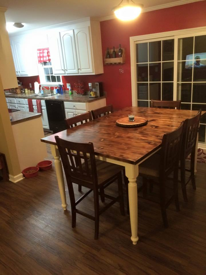 Blowtorch Stained Kitchen Table Ana White