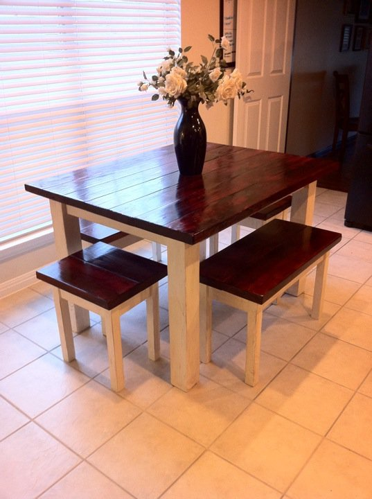 Ana white farm house table diy projects Narrow farmhouse table plans