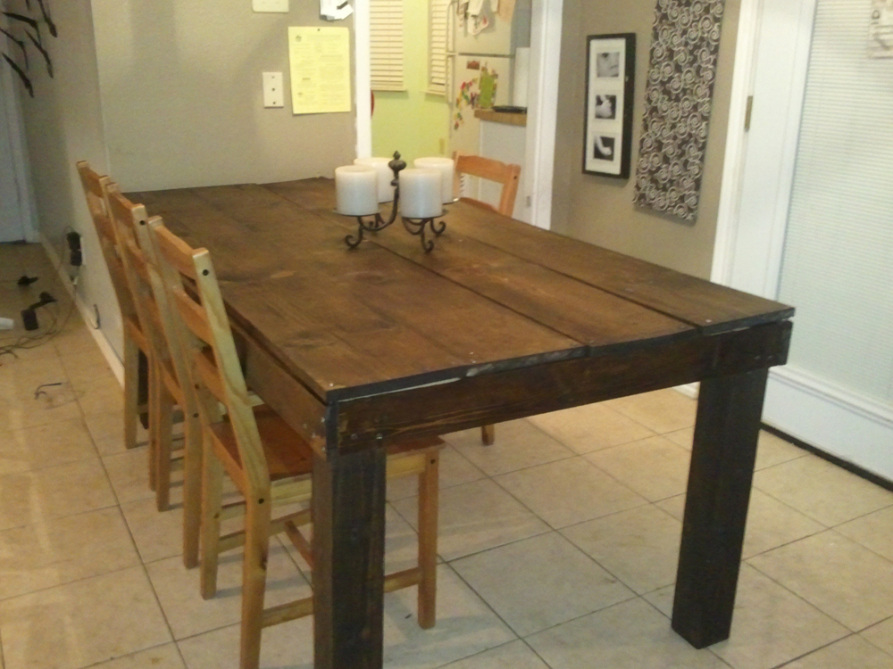 Rustic Table   4x4 Legs