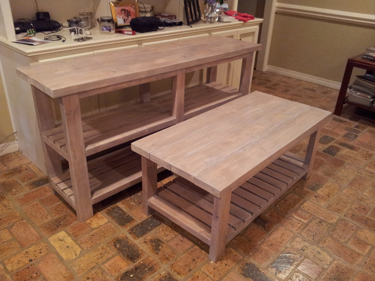anna white rustic x coffee table. additional photos about this