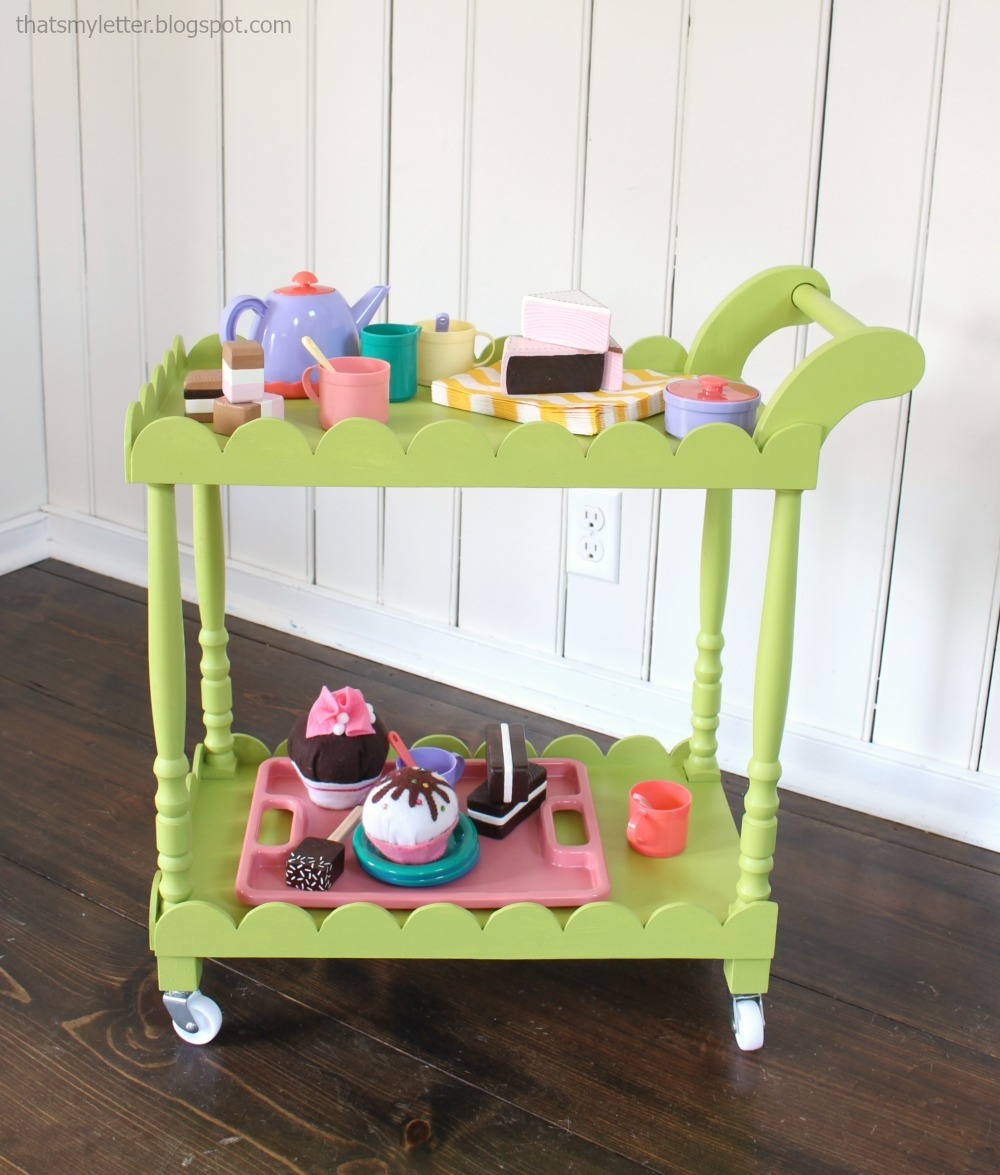 DIY Kids Tea Cart Using Stair Spindles, Free Tutorial Plans By ANA WHITE.com