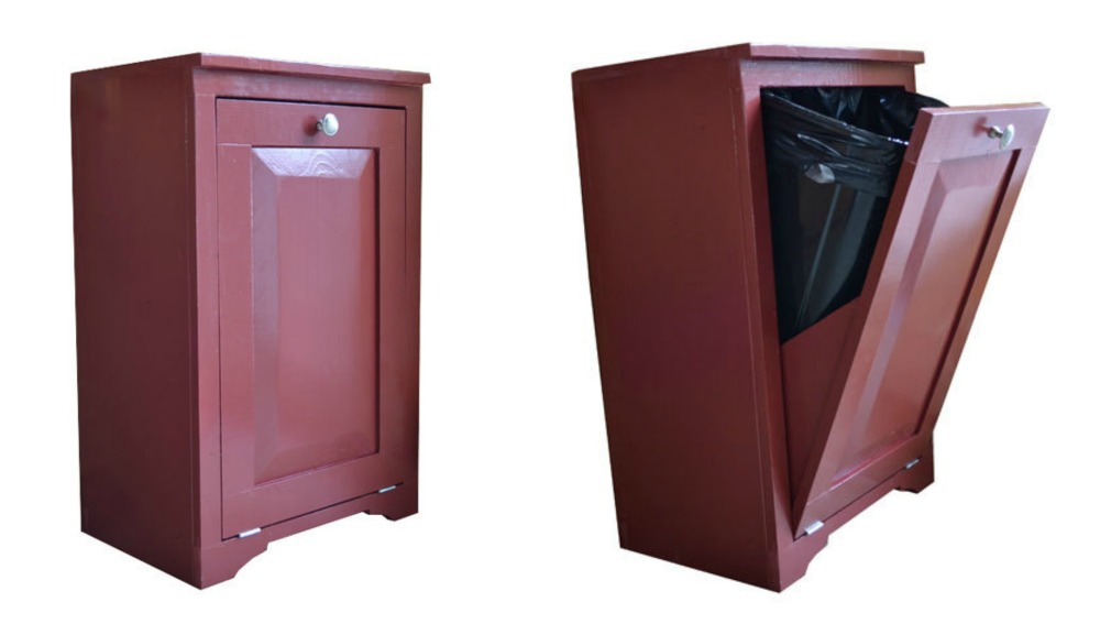 Wood Tilt Out Trash Or Recycling Cabinet Ana White