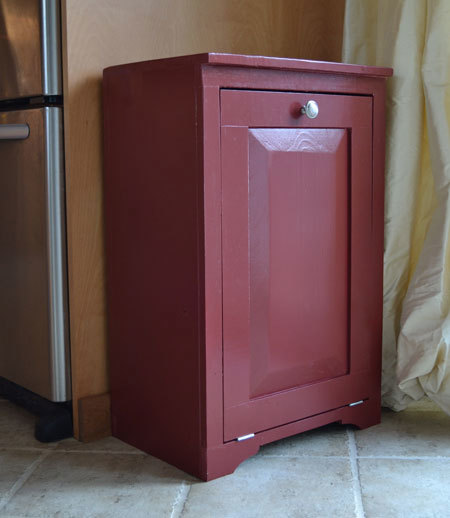Solid Wood Tilt Out Trash Cabinet Or Recycling Easy To Build Fully Framed Open Back Fits Standard Cans