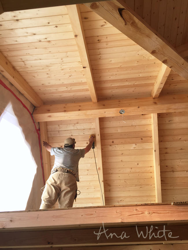 Finishing Interior Wood Ceilings On Our Alaska Lake Cabin