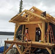 Timberframe Front Porch For Alaska Lake