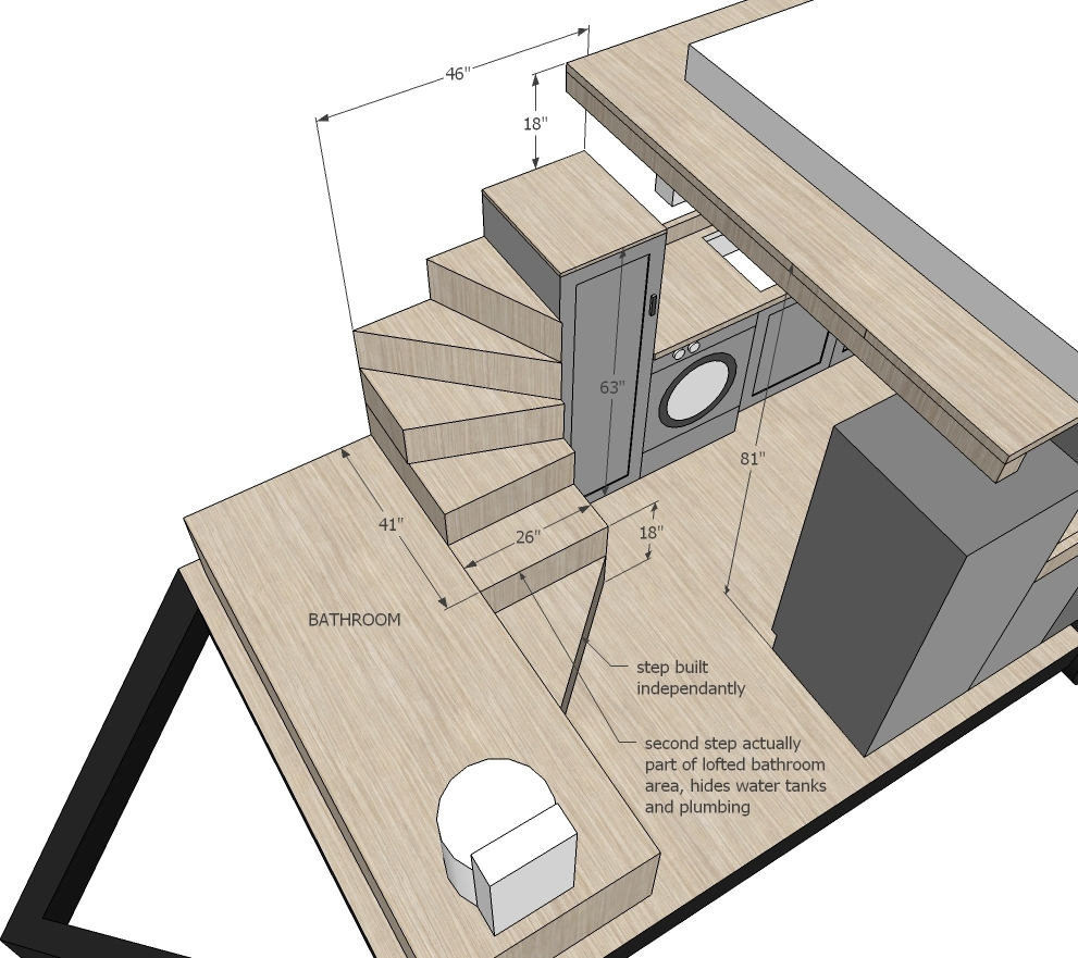 Ana white tiny house stairs spiral storage style diy for Tiny house floor plans pdf