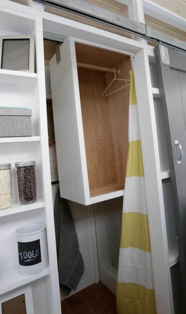 I Know This Closet Isn T For Everyone But Loved How It Turned Out And The Rarely Used E In Shower Was Maximized