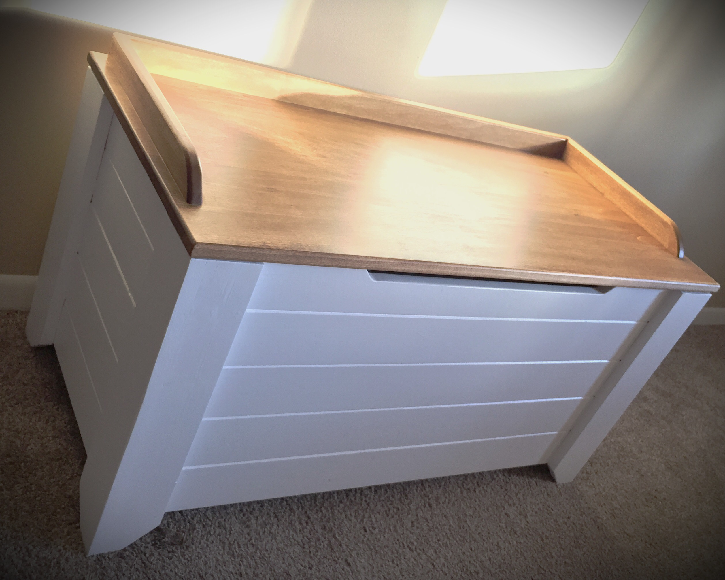 Ana White Farmhouse Style Toy Box Blanket Chest Diy Projects