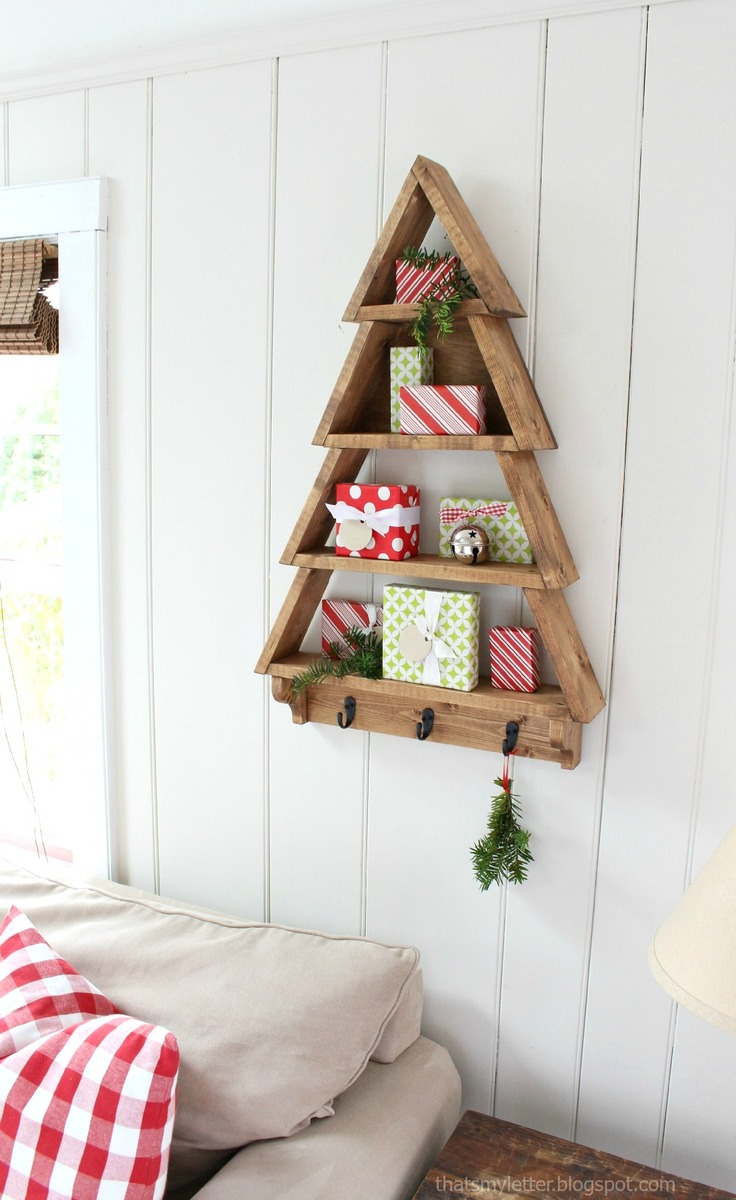 Ana white tree wall shelf diy projects for Easy diy wall shelf