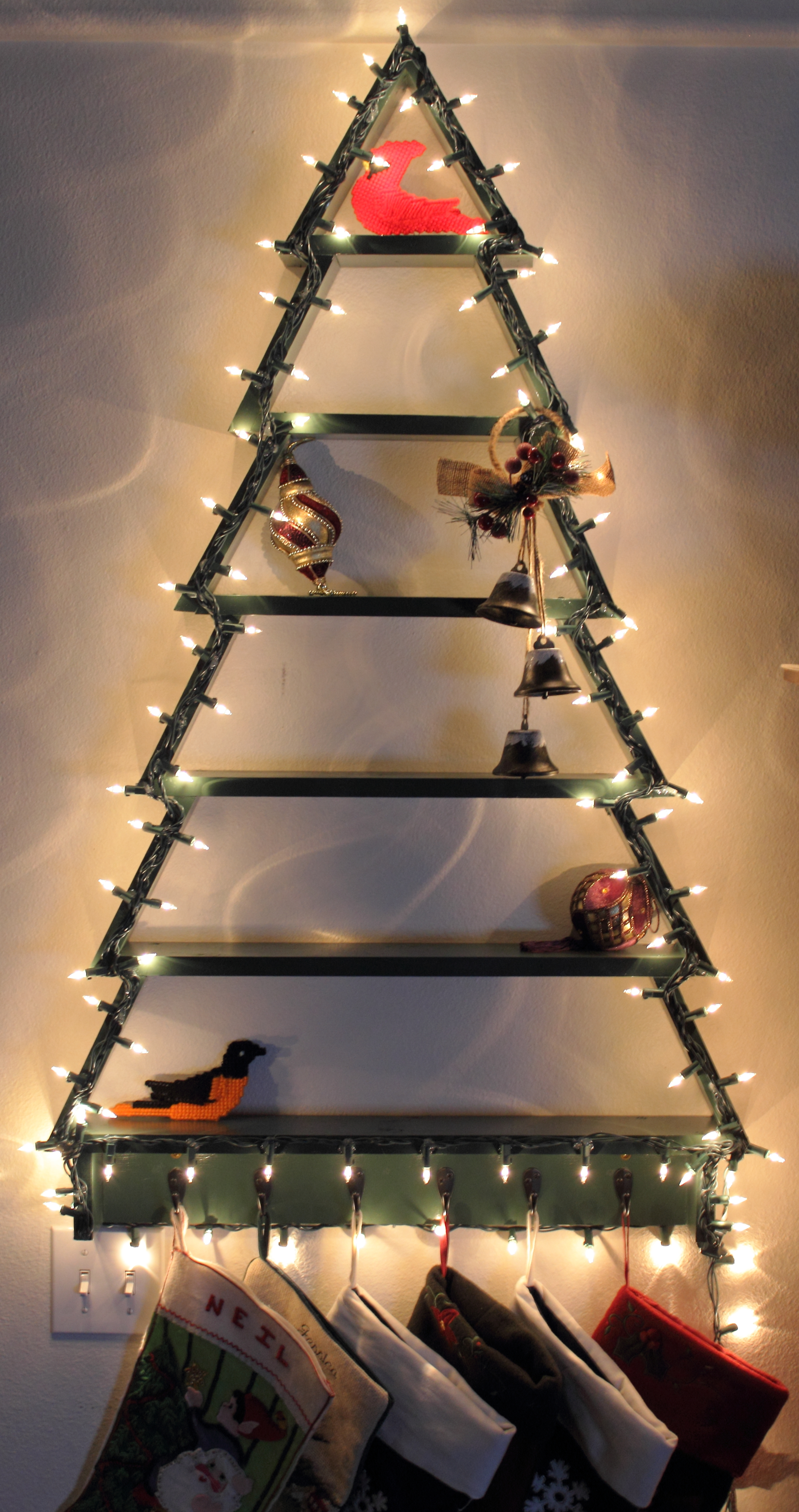Christmas Tree Shelf With Lights Ana White